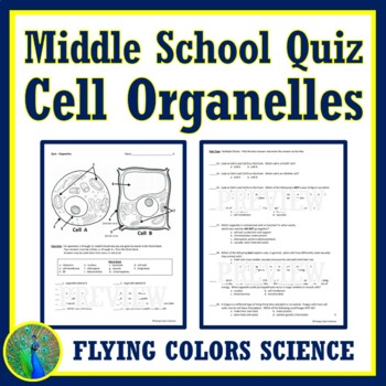 NGSS Parts of a Cell Organelle QUIZ NGSS MS-LS1-1 MS-LS1-2