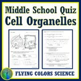 NGSS Parts of a Plant and Animal Cell Organelles QUIZ (PDF