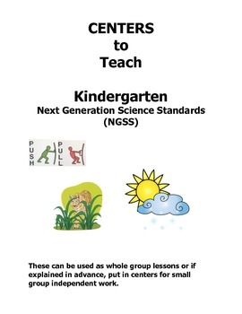 NGSS Centers for Kindergarten