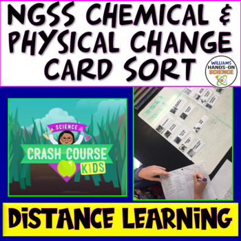 NGSS MS-PS1-5: Chemical Vs. Physical Change Cart Sort Close Reading & Notes