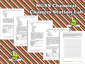 NGSS Chemical Changes Station Lab Activity