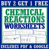 Chemical Reactions Worksheet Bundle Set With Law of Conser