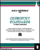 NGSS Chemistry Standards - Quick Reference