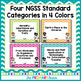NGSS First Grade Chevron I Can Statements, Posters, and Standards
