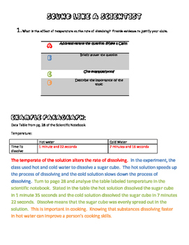 NGSS Claim and Reasoning Write Like A Scientist