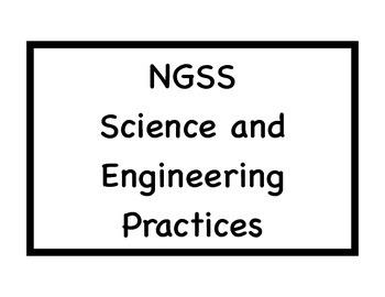 Next Generation Science Standards Classroom Display