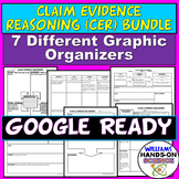 Distance Learning NGSS Common Core Claim Evidence Reasoning Graphic Organizers
