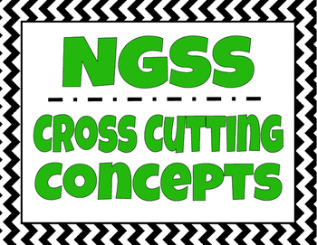 NGSS Cross Cutting Concepts - Classroom Signs / Posters (with descriptions)