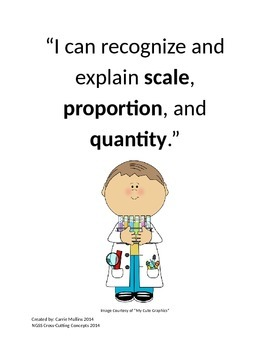 """NGSS Cross-Cutting Concepts """"I can"""" Statements"""