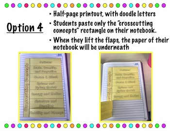 NGSS Crosscutting Concepts Foldable for Interactive Notebooks