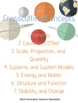 NGSS Crosscutting Concepts Poster
