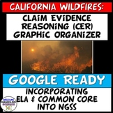 Distance Learning NGSS Claim Evidence Reasoning California Wildfires