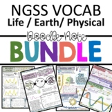 NGSS Middle School Doodle Notes Growing Bundle