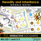 NGSS Doodle Notes Heredity and Inheritance (Life Science MSLS3-1 and MSLS3-2)