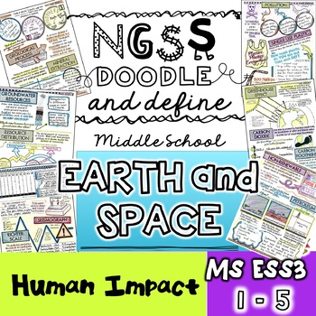 NGSS Earth and Space Doodle Notes MS-ESS3 (NGSS Vocabulary)