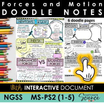 NGSS Doodle Notes Motion and Stability: Forces and Interactions (MS-PS2)