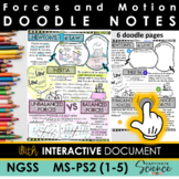 NGSS Doodle Notes Motion and Stability: Forces and Interactions