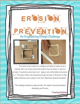NGSS Earth Science-Erosion Prevention: Retaining Wall Engineering Challenge
