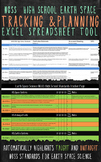 NGSS Earth Science Tracking and Planning Excel Tool