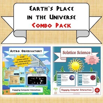 """NGSS Earth & Space Bundle: """"Solstice Science"""" & """"Astro Observatory"""" 