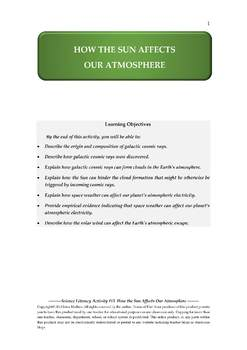 NGSS Earth & Space Science Astronomy Lesson Plan #13 Sun and Earth's Atmosphere