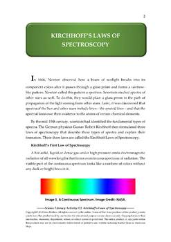 NGSS Earth & Space Science Astronomy Lesson Plan #22 Kirchhoff's Laws & Spectra