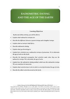 NGSS Earth & Space Science Astronomy Lesson Plan #42 Radiometric Dating