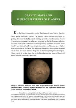 NGSS Earth & Space Science Astronomy Lesson Plan #44 Gravity & Planet's Surface