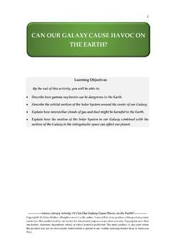 NGSS Earth & Space Science Astronomy Lesson Plan #52 Cosmic Events & Earth