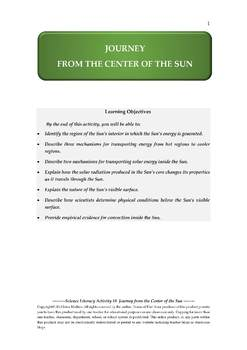 NGSS Earth & Space Science Astronomy Lesson Plan #8 Energy Transfer in the Sun