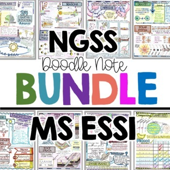 NGSS Earth and Space Science Doodle Notes for Middle School MS ESS1
