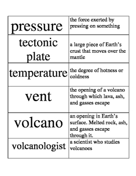 NGSS - Earth's Systems - Volcanoes