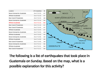 NGSS Earthquake Critical Thinking Activity