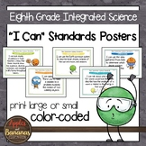 """NGSS Eighth Grade (INTEGRATED) Standards """"I Can"""" Posters"""