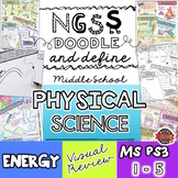 NGSS Energy Doodle Notes for Middle School (Physical Science MS-PS3)