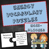 NGSS Energy Vocabulary Puzzles