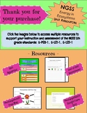 NGSS - Energy in Ecosystems Unit Resource Pack