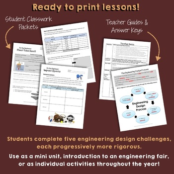 NGSS Engineering Design Mini Unit Bundle (3-5-ETS1 and MS-ETS1)