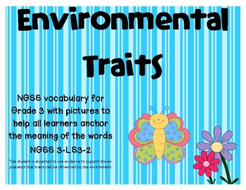 NGSS Environmental Traits vocabulary cards
