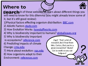 NGSS Evolution/Ecology Activity
