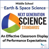 NGSS Middle School EARTH SCIENCE - Performance Expectation Classroom Organizer