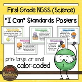"NGSS ""I Can"" Posters & Statement Cards First Grade Science Standards"