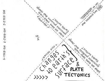 NGSS Foldables: Changes to Earth's Surface (Plate Tectonics)