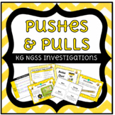 NGSS Forces and Motion Push and Pull Kindergarten Investigations