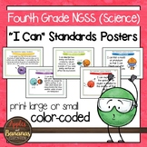 "Fourth Grade NGSS ""I Can"" Science Standards Posters"