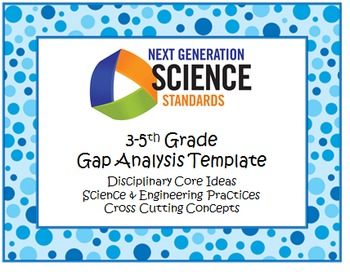 NGSS Gap Analysis Template 3-5th Grade