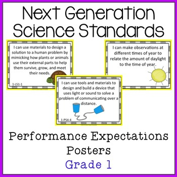 NGSS Grade 1 Performance Expectations Posters