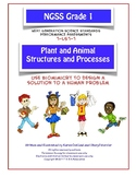 NGSS Grade 1 Plant and Animal Structures and Processes Bio