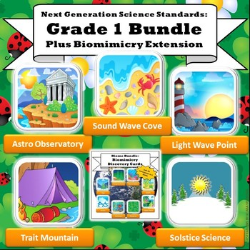 NGSS First Grade Super Bundle: All 5 STEM Units w/Biomimicry Expansion
