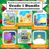 NGSS First Grade Super Bundle: All 5 STEM Units w/Biomimic
